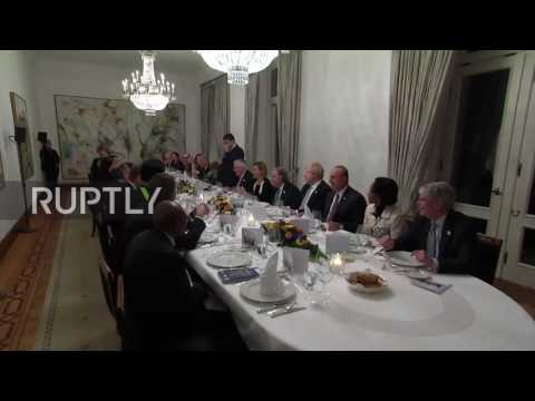 Germany: G20 foreign ministers in high spirits at dinner in Hammerschmidt Villa