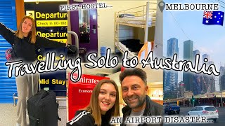 TRAVELLING SOLO TO AUSTRALIA & ARRIVING IN MELBOURNE *airport DISASTER!!* #AusVlog1