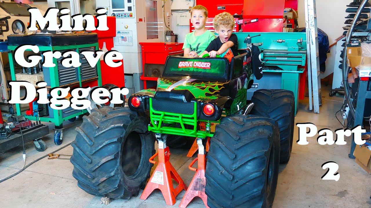 Download Huge 4wd Grave Digger Modified Power Wheels Custom Build SAS Mini Monster Truck for Kids Part 2