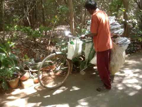 Livelihoods- Recycling newspaper and bottles in Bangalore, India