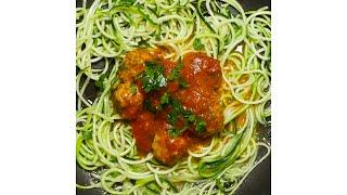 Gluten Free Meatballs & Zucchini Noodles