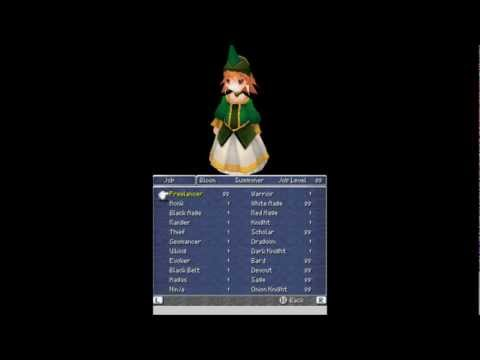 Let's Play Final Fantasy III Bonus Part 1 - Max Job Level Items Special