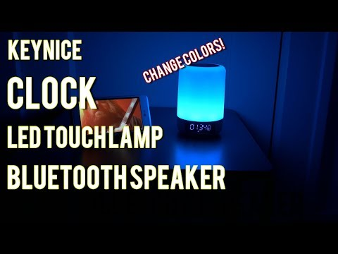 KEYNICE | CLOCK | COLOR CHANGING LED TOUCH LAMP | BLUETOOTH SPEAKER