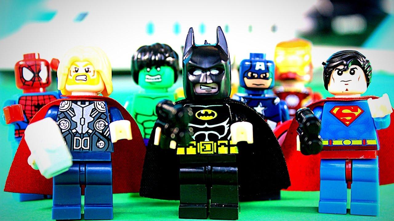 Супергерои против Лего Ниндзяго Superheroes VS Lego Ninjago Мультик про Ниндзяго и Супергероев