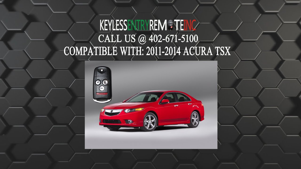 how to replace acura tsx key fob battery 2011 2012 2013 2014 youtube