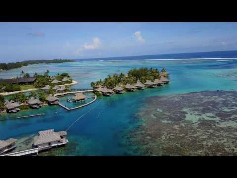 Intercontinental Moorea, French Polynesia - Aerial Drone Footage