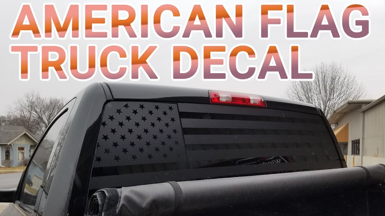 American flag truck back window decal how its made