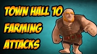 Clash of clans-TH10 Farming Attacks