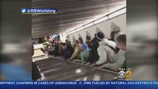 Caught On Camera: Rome Escalator Accident