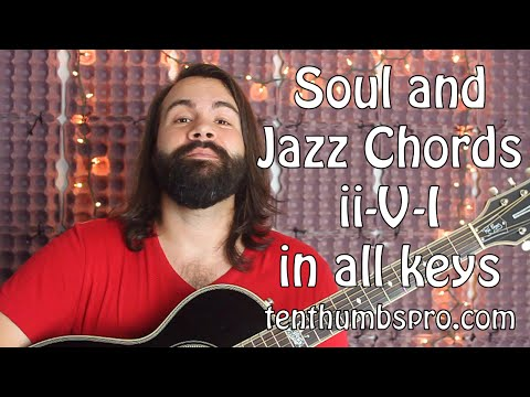 How to play soul and jazz chords - Learn jazz guitar in every key - Guitar tutorial