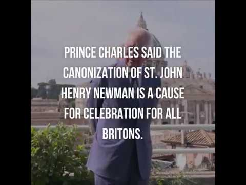 UK's Prince Charles praises Cardinal John Henry Newman