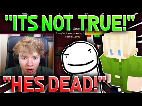 Ranboo and Tubbo REACT TO TOMMYINNIT'S DEATH! (dream smp) - DreamSMP Hangout