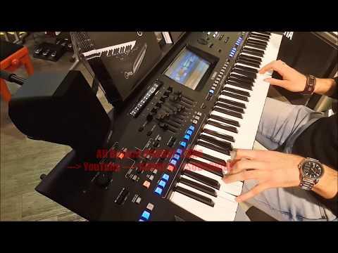 Flamenco Yamaha Genos Demo Live Guitar Sound