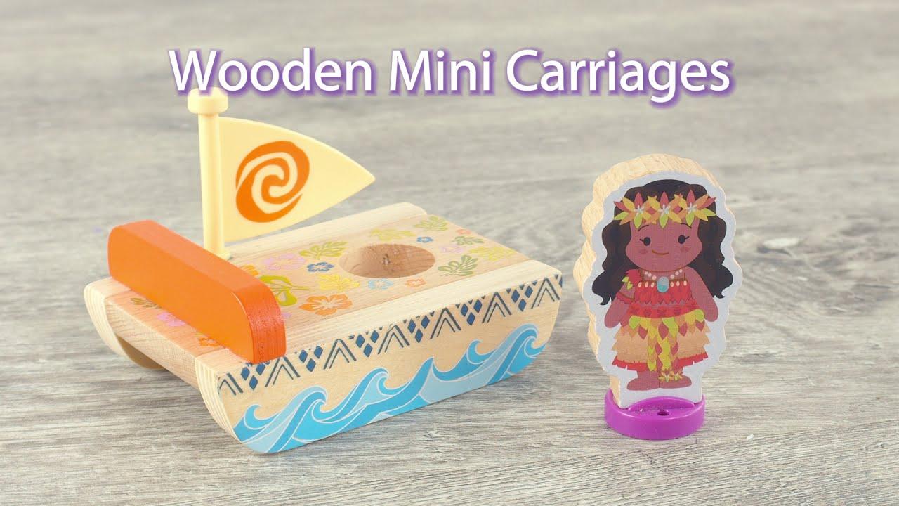 Disney Princess Moana and Jasmine Wooden Mini Carriages