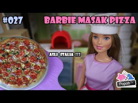 Mainan Boneka Lucu Popob Tv Ep 27 Barbie Masak Pizza Untuk Mell Chan Mell Chan Mandi Bola Youtube