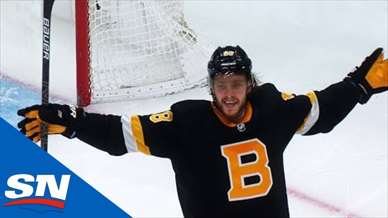 David Pastrnak Celebrates After Scoring Demoralizing Goal On Carey Price