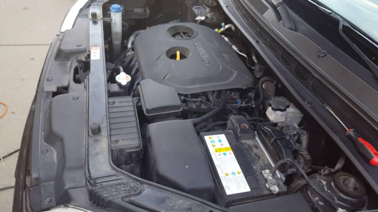 kia fuel filter location
