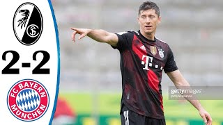 Фрайбург Бавария 2 2 Обзор Матча Чемпионата Германии 15 05 2021 HD