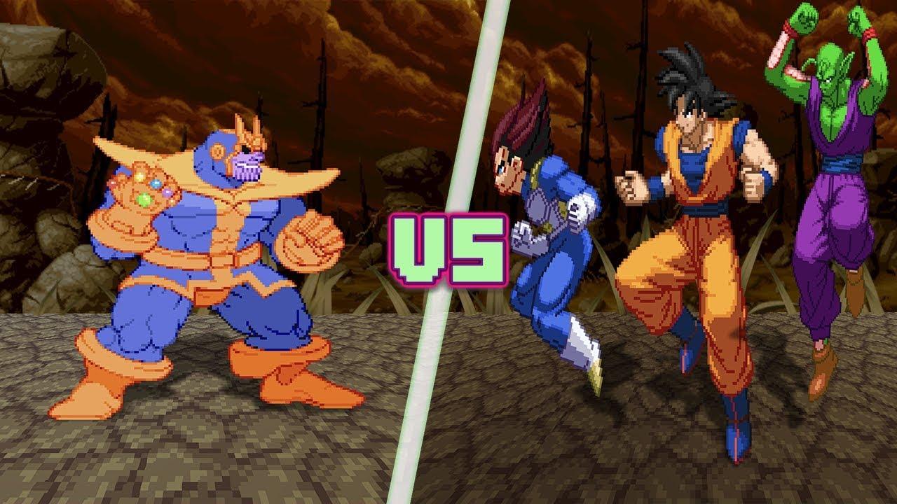 Goku Vs Thanos: THANOS Vs Z-FIGHTERS! (Thanos Vs Goku, Vegeta, Piccolo