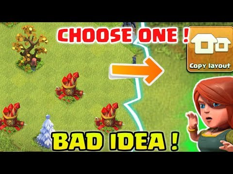 CHOOSE ONE ! Remove Rare Obstacles Or Copy base ! Clash of Clans !