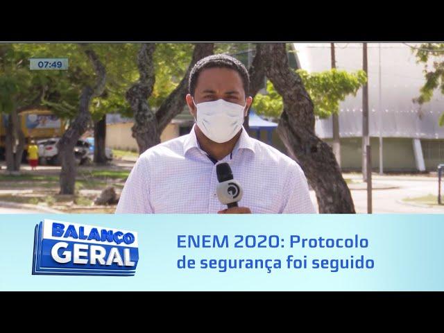 ENEM 2020: Protocolo de segurança foi seguido durante a prova
