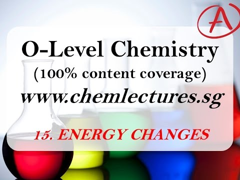 (15th of 19 Chapters) Energy Changes - GCE O Level Chemistry