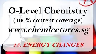 (15th of 19 Chapters) Energy Changes - GCE O Level Chemistry Lecture
