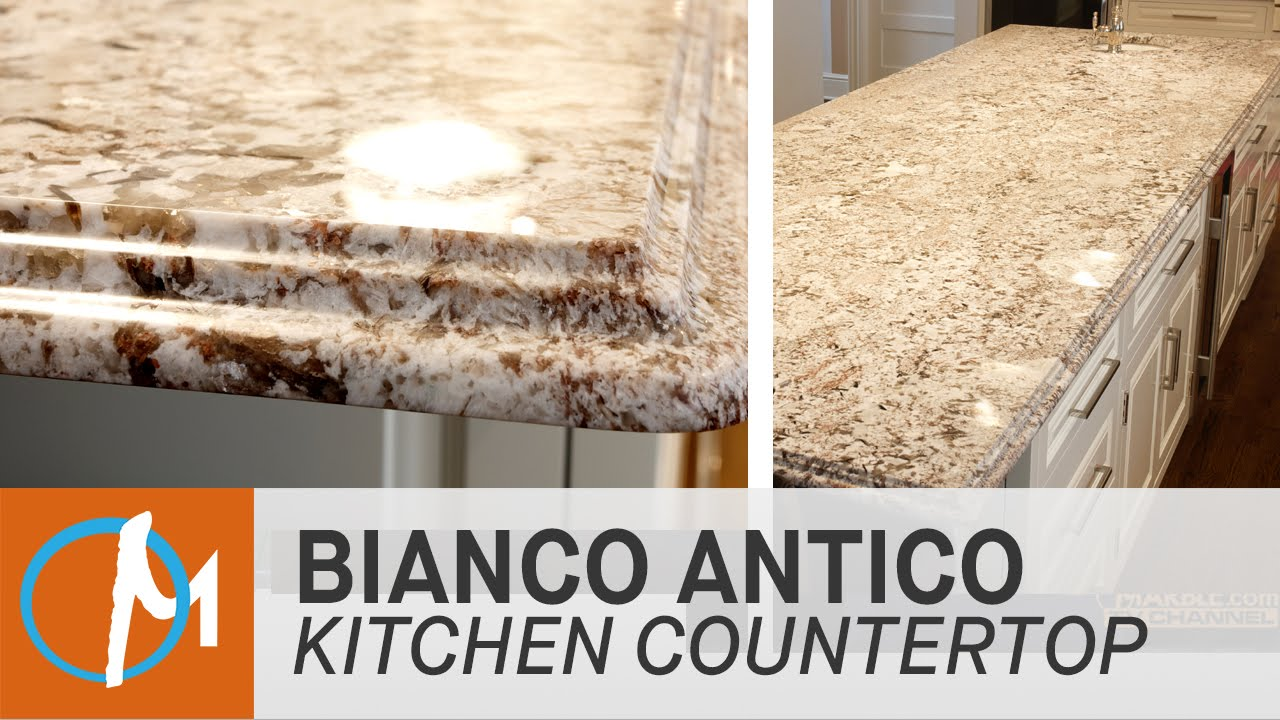 Bianco Antico Granite Kitchen Countertops   YouTube