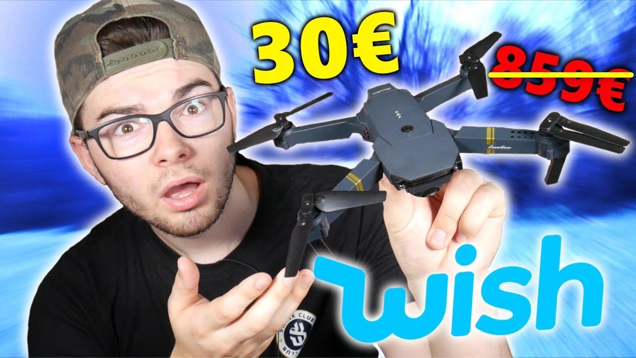 JE TESTE UN DRONE SUR WISH !