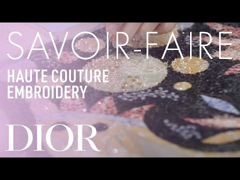 Embroideries Savoir-Faire – Dior Spring-Summer 2019 Haute Couture show in Dubai
