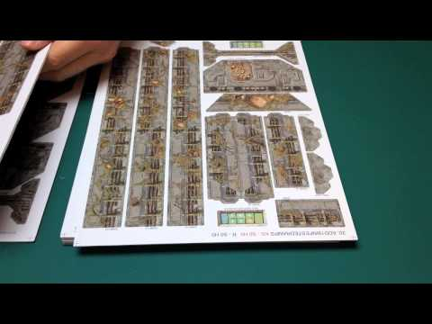 Battle Systems Sci-fi terrain - Assembly 19 - 22 - Infested & Clean Walls