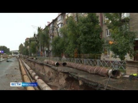 Видео Ремонтные работы на проспекте Толбухина в Ярославле закончатся не скоро