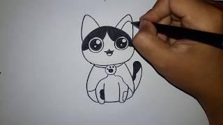 Cara Menggambar Kucing | HOW TO DRAW A CAT