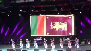 ic opening event dance item representing sri lanka 2015 melbourne australia