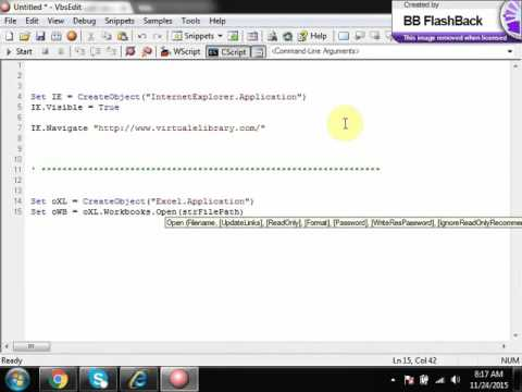 Automating web application with VBScript and without automation tool