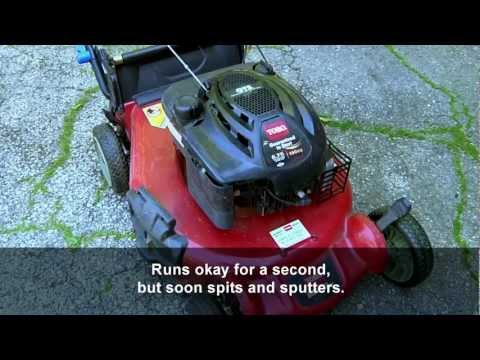 How to fix a Toro SR4 lawnmower that runs poorly