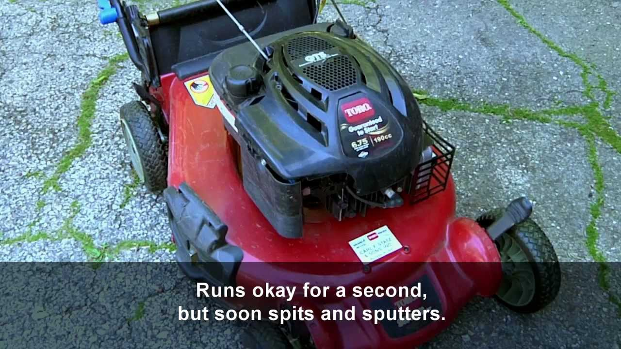 How To Fix A Toro Sr4 Lawnmower That Runs Poorly Youtube