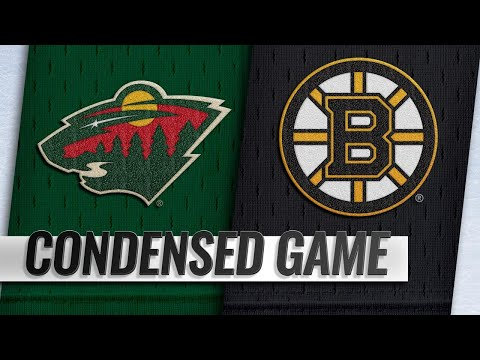 01/08/19 Condensed Game: Wild @ Bruins