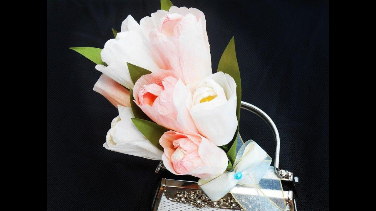 Paper flowers tulips bouquet youtube mightylinksfo
