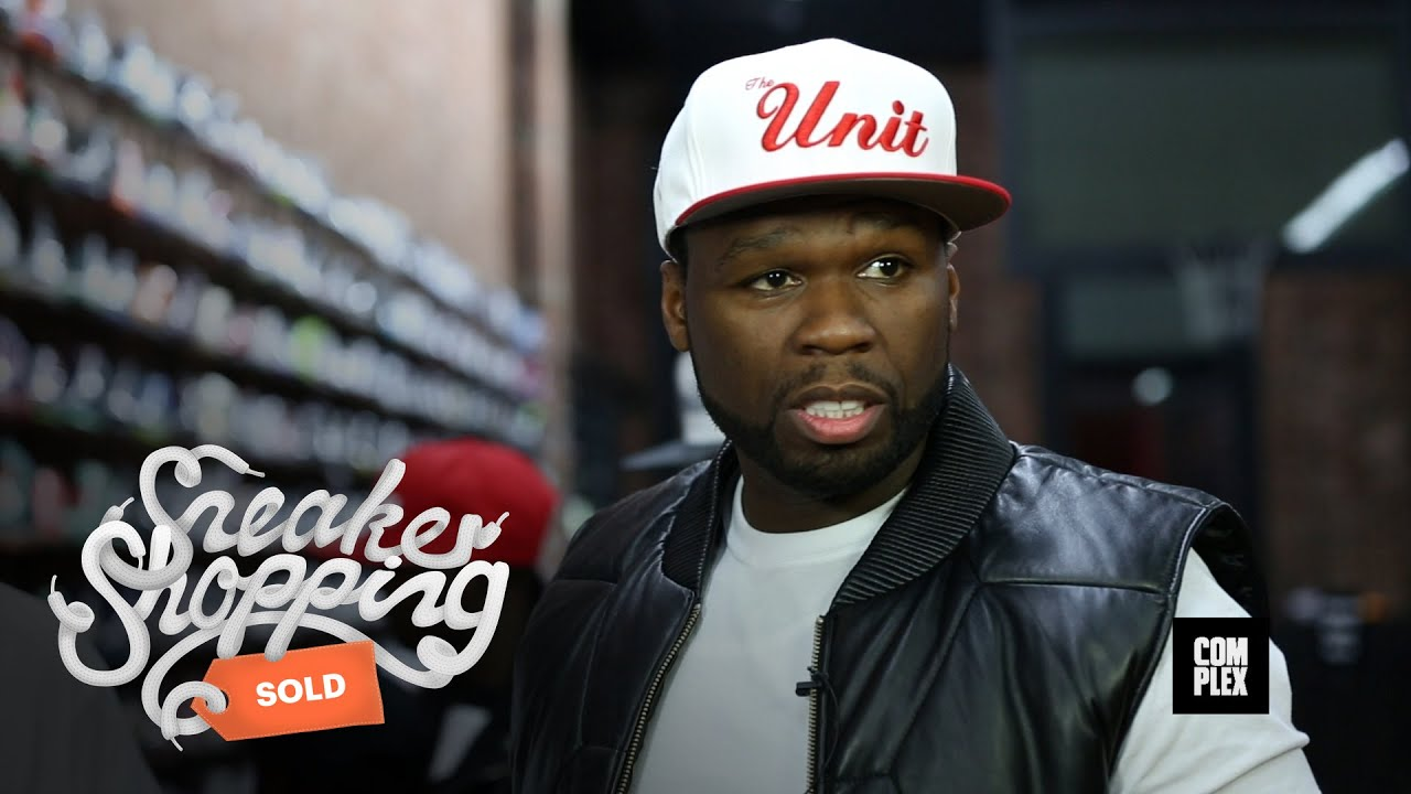 online store 9532a 8eda4 50 Cent Goes Sneaker Shopping with Complex