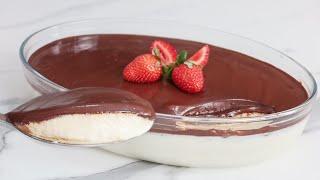 Sobremesa de Ninho e Chocolate Meio Amargo
