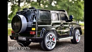 Mercedes G55 Luxury ride on car w/ RC parental remote at Big Toys Green country