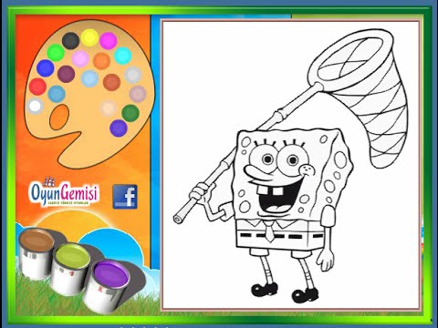 Spongebob Coloring Pages For Kids - Spongebob Coloring Pages - YouTube