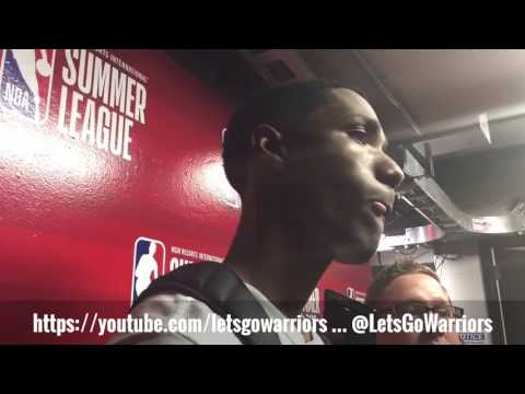 PATRICK McCAW, Golden State Warriors (0-1) NBA Summer League postgame vs Philadelphia 76ers