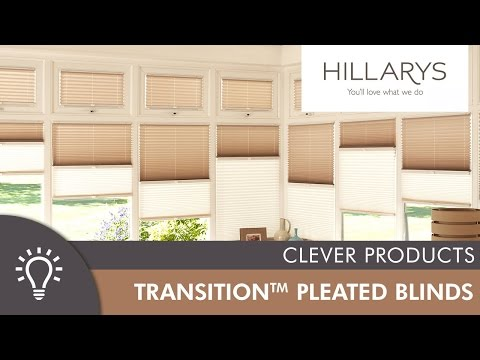 Hillarys Transition Pleated blinds