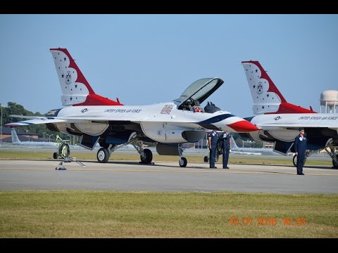 ROBINS AIR FORCE BASE AIRSHOW WITH THE U.S. AIR FORCE THUNDER BIRDS WARNER ROBINS,GA. 10-1-2016