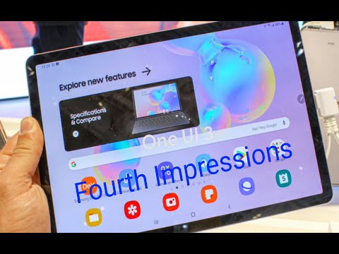 Samsung Galaxy Tab S6 One Ui 3.1 (Android 11) Fourth Impressions