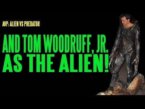 AVP Tom Woodruff As The Alien BTS ADI