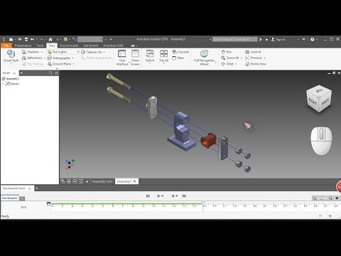 19.Autodesk Inventor 2018 - Create Exploded View And Animetion Assembly