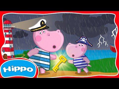 Гиппо 🌼 Видео с загадкой! 🌼 Приключения на старинном маяке 🌼 Мультфильм Обзор игры (Hippo)